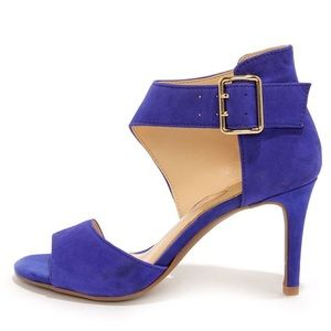 Jessica Simpson Blue Suede Pumps, size 6.5